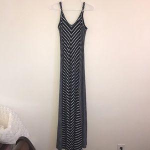 Cynthia Rowley Navy and White Maxi Dress